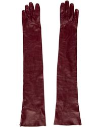 Missoni - Leather Long Gloves Burgundy - Lyst