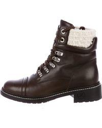Chanel - Paris-salzburg Tweed Boots Brown - Lyst