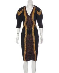 Etro - Paisley Midi Dress - Lyst