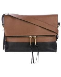 Marc Jacobs - Bicolor Leather Crossbody Bag Brown - Lyst