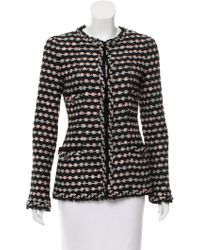 Chanel - -accented Tweed Jacket Black - Lyst