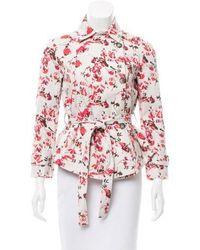 Thakoon Addition - Floral Jacket Beige - Lyst