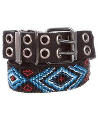 Balmain - Embellished Canvas Belt - Lyst