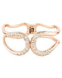 Alexis Bittar - Miss Havisham Liquid Crystal Hinged Bracelet Rose - Lyst