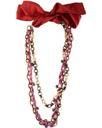 Nina Ricci - Double Strand Necklace Gold - Lyst