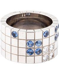 Cartier - 18k Diamond & Sapphire Lanières Ring White - Lyst