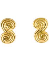 Tiffany & Co. - 18k Scroll Earclips Yellow - Lyst