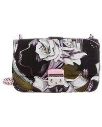 8772f0029c78 Dior - Floral Silk Medium Miss Flap Bag Black - Lyst