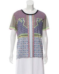 Clover Canyon - Printed Short Sleeve Top - Lyst