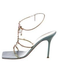 89895eeea3b8 Lyst - Giuseppe Zanotti Jewel-embellished Sandals Gold in Metallic