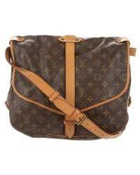 Louis Vuitton - Monogram Saumur 35 Brown - Lyst