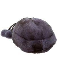 J. Mendel - Mink Fur Beanie Mink - Lyst