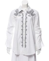 SUNO - Embroidered Button-up Top W/ Tags - Lyst