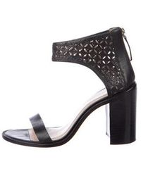Zimmermann - Perforated Leather Sandals - Lyst