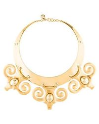 Tory Burch - Scrolled Collar Necklace Gold - Lyst