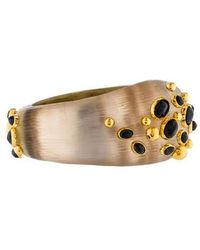 Alexis Bittar - Lucite & Crystal Hinged Bracelet Gold - Lyst