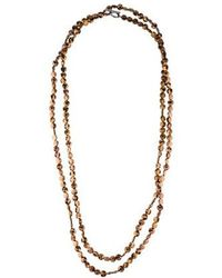 Brunello Cucinelli - Bead Long Necklace Silver - Lyst