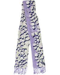 Diane von Furstenberg - Printed Fringe-trimmed Scarf Multicolor - Lyst