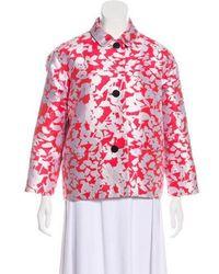 Kate Spade - Printed Button-up Jacket Orange - Lyst