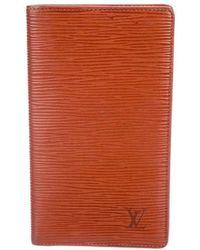 Louis Vuitton - Epi Checkbook Cover Gold - Lyst