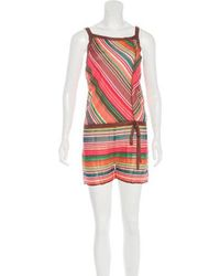 M Missoni - Striped Sleeveless Romper W/ Tags - Lyst