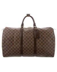 Louis Vuitton - Damier Ebene Keepall 50 - Lyst