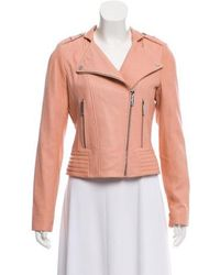 MICHAEL Michael Kors - Michael Kors Leather Biker Jacket - Lyst