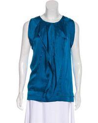 cf105b65e36a7 Lyst - Diane Von Furstenberg Ayla Silk Top in Green