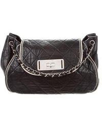 e95afb054209 Lyst - Chanel East West Accordion Flap Bag Beige in Metallic