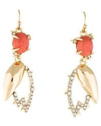 Alexis Bittar - Crystal Encrusted Abstract Tulip Drop Earrings Gold - Lyst