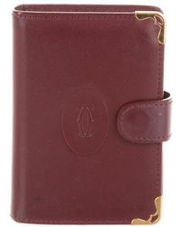 Cartier - Leather Card Holder Gold - Lyst