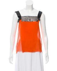 Philosophy di Alberta Ferretti - Sleeveless Silk Top Orange - Lyst