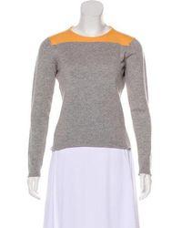 Lucien Pellat Finet - Colorblock Cashmere Top Grey - Lyst