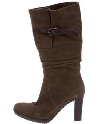 Henry Beguelin - Mid-calf Ruched Boots - Lyst