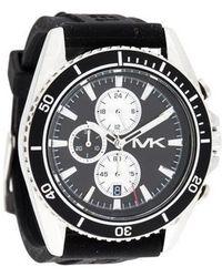 2814cda953ea Lyst - Michael Kors Mk9013 Automatic Chronograph Jetmaster Black ...