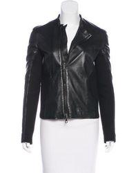Lot78 - Leather Moto Jacket - Lyst
