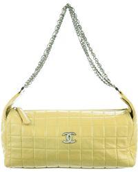 Chanel - E/w Chocolate Bar Shoulder Bag Chartreuse - Lyst