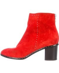 Rag & Bone - Willow Studded Ankle Boots Silver - Lyst