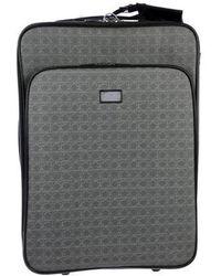 Ferragamo - Gancio-printed Suitcase Grey - Lyst