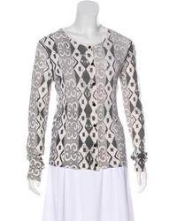 Duro Olowu - Patterned Wool & Cashmere Cardigan Grey - Lyst