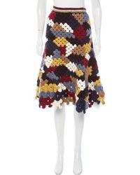 Rosetta Getty - Alpaca-blend Crochet Skirt W/ Tags Blue - Lyst