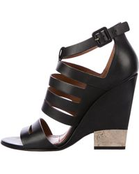 Givenchy - Multistrap Wedge Sandals Black - Lyst