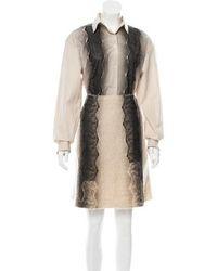 Bottega Veneta - Ombré Lace-paneled Skirt Set Tan - Lyst