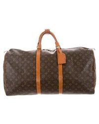 Louis Vuitton - Monogram Keepall 55 Brown - Lyst