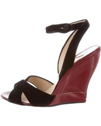 Paul Andrew - Leather Slingback Wedges - Lyst