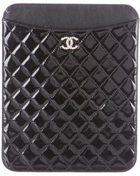 Chanel - Brilliant Ipad Case Black - Lyst