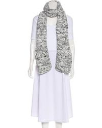 Michael Kors - Knit Patterned Scarf - Lyst