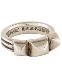 Chrome Hearts - Triple Pyramid Ring Silver - Lyst