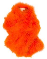 Michael Kors - Fox Fur Stole Orange - Lyst