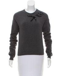 Rochas - Embellished Knit Sweater - Lyst